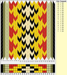 Brikkevev bunad-related, with 4 holes. Inkle Weaving, Inkle Loom, Card Weaving, Tablet Weaving Patterns, Bead Loom Patterns, Viking Knit, Weaving Projects, Loom Beading, Textile Design