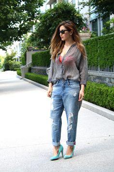 Boyfriend Jeans ( Sunglasses & Shirts & Blouses )