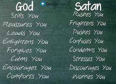 Focus on God, resist the devil