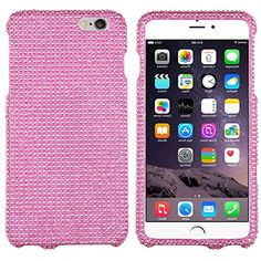 "myLife Child's Play Pink {Glittery Glam Bling Rhinestones} 2 Piece Snap-On Rubberized Protective Faceplate Case for the NEW iPhone 6 (6G) 6th Generation Phone by Apple, 4.7"" Screen Version ""All Ports Accessible"" myLife Brand Products http://www.amazon.com/dp/B00U2YPW3E/ref=cm_sw_r_pi_dp_Sjyhvb0TX2JXM"
