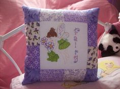 Fairy cushion, with hand applique and embroidery.  Please look at the items I sell @ www.lemayed-for-you.webs.com, thanks.