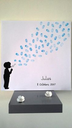 tree with footprints strength of childhood Boy bubbles child with 1 inker 4 colors offered baptism b Baby Shower Photo Booth, Baby Shower Photos, Baby Shower Themes, Baby Boy Shower, Baby Shower Decorations, Shower Ideas, Decoration Creche, Baby Boy Themes, Boy Decor