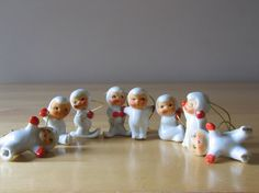 rare find, Vintage 1959 Holt Howard Snow Babies Christmas by thetoadhouse, etsy