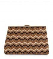Brown Zig Zag Clutch Bag £15.99 €19.99, get this image at prshots.com