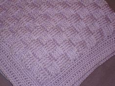 """Cousin Crystal's Crocheted Basket Weave Baby Blanket - free """"recipe"""""""