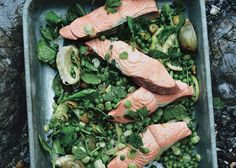 Poached Salmon with Artichoke Confit Recipe - Bon Appétit.  A great dish to make with our Faroe salmon fillets: http://www.gourmetclassics.co.uk/products/faroe-salmon-fillets/