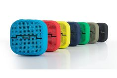 Affordable little bluetooth wireless speakers that look and sound great. Cool gift idea.