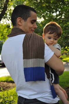 Ribbed cashmerino silk men's striped scarf by bugsysbeanies, $75.00