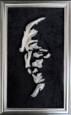 filografi çivi ve telin aşkı Arabic Art, Thread Art, Art Projects, Projects To Try, Picture On Wood, Quilling, Diy And Crafts, Mandala, Nail Art