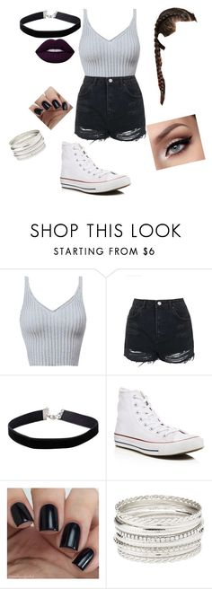 """""""Untitled #74"""" by trinitymahomie on Polyvore featuring Topshop, Miss Selfridge, Converse, Charlotte Russe and Lime Crime"""
