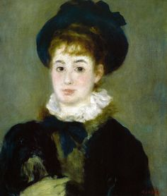Pierre Auguste Renoir - Portrait of Henriette Henroit, 1876 at Oskar Reinhart Art Collection Winterthur Switzerland | Flickr - Photo Sharing!