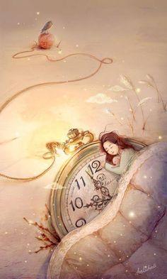 Dormindo num relógio