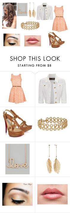 """""""Out of the blue"""" by cheska14 ❤ liked on Polyvore featuring Jane Norman, Luciano Padovan, Blue Nile, Sydney Evan, Candie's, curly hair, heels, vest and dress"""