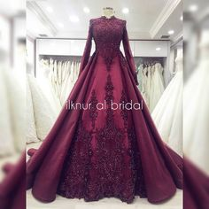 the dress # nişanlık # tesettürgelinlik There are different rumors about the real history of the marriage … Muslimah Wedding Dress, Hijab Wedding Dresses, Bridal Dresses, Prom Dresses, Lovely Dresses, Beautiful Gowns, Indian Wedding Gowns, Modele Hijab, Special Dresses