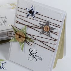 Lovely button/star/twine card
