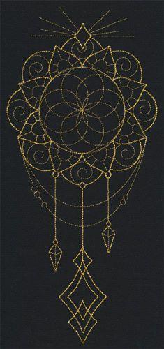 Talisman - Draping Medallion design (UT9879) from UrbanThreads.com