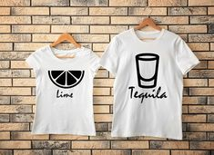 Tequila Lime Shirt Couples Shirt Funny Couples Shirt