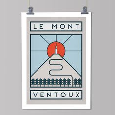 The Routes: Le Mont Ventoux - Cycling Art Print – The Handmade Cyclist