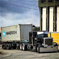 Millions of Semi Trucks Peterbilt Trucks, Semi Trucks, Rigs, Trailers, Old School, Badass, Memories, Blue, Custom Trucks