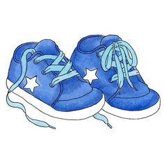 8856 - Baby Boy Sneakers Rubber Stamp - Sku: E756