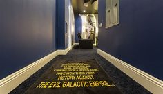 A long time ago in a galaxy far, far away . . . . Star Wars fans will love this themed movie room at this Reunion Villa. See Direct Villas Florida ID 1706