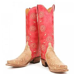 Red Lucchese boots ♥ ♥ ♥