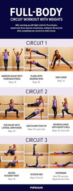 Print This Now! Full-Body Circuit With Weights