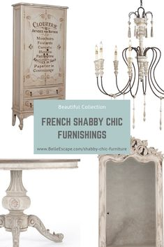 Shabby Chic Home Decor Shabby Chic Table, Chic Decor, French Shabby Chic, French Country Decorating Living Room, White French Furniture, Chic Furniture, Shabby Chic Theme, Shabby Chic, French Shabby Chic Furniture