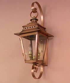 Shop your premier on-line source for Gas and Electric Copper Lanterns by The CopperSmith. Looking to buy copper gas or copper lighting by The CopperSmith? We offer the complete selection at the very best prices. Lighting Showroom, Garage Lighting, Porch Lighting, Exterior Lighting, Outdoor Lighting, Carriage Lights, Copper Lantern, Charleston Style, Gas Lanterns