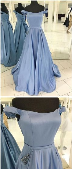 Off the Shoulder Simple Long Prom Dress Semi Formal Dresses Wedding Party Dress LP137
