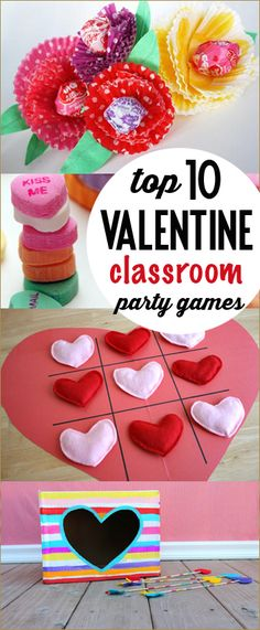 Top 10 Classroom Valentine Party Games.  Super fun Valentine games and activities for kids.  Great school grade games.