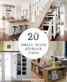 20 Small Space Storage Ideas - remodelingguy.net #diy #storage #organize