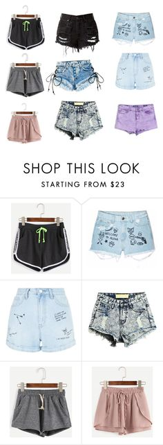 """""""Shorts"""" by princesshannah00 on Polyvore featuring WithChic, Aloha From Deer, New Look and Vigoss"""