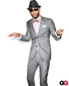 Swizz in grey suit, with bow tie