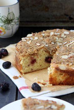 Almond Coffee Cake | http://www.thekitchenpaper.com/blackberry-almond ...