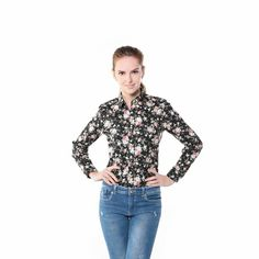 Floral pattern shirt Who doesn't like pretty flowers Link in the bio
