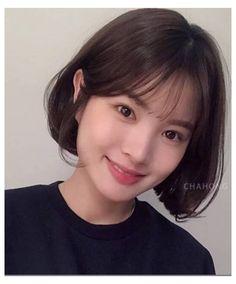 Korean Short Hair Bangs, Korean Bangs Hairstyle, Asian Short Hair, Long Hair With Bangs, Hairstyles With Bangs, Short Hair Cuts, Asian Bangs, Updo Hairstyle, Prom Hairstyles