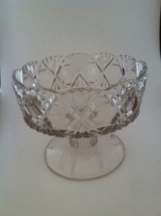 Vintage Cut Glass Bowl by jjones1128 on Etsy, $12.95
