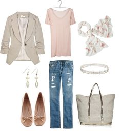 """""""Light and Casual"""" by bluehydrangea on Polyvore"""