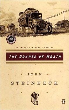 The Grapes of Wrath - John Steinbeck.  One of the classics of 20th century American literature.  Should be in everyone's library.  Whenever times seem rough, take out and reread.
