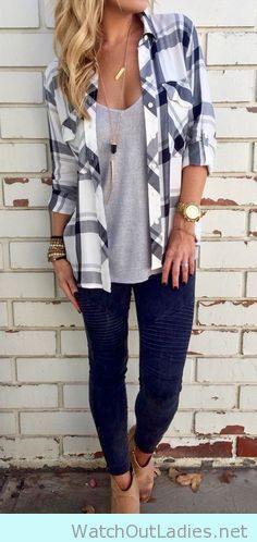 How to wear a button down shirt with jeans and booties