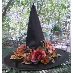 Garden Witch Victorian Witches Hat by TwilightFaerie on Etsy, $96.00
