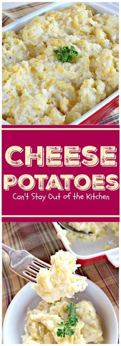 Cheese Potatoes | Can't Stay Out of the Kitchen | this easy & delicious #potato dish is perfect for #Father'sDay & other #holidays. Our family loves it! #glutenfree