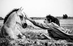 When the beloved horse close to you easier to go through all the obstacles❤