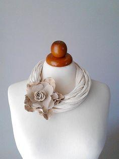 Flower necklace wedding jewelry alternative wedding jewelry