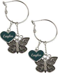 #Eagles Butterfly Earrings. $9.99