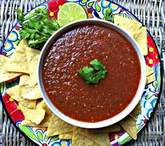 Restaurant Style Salsa // Make this in under 10 minutes and enjoy on game day or for a snack! // A Cedar Spoon