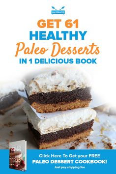 If you've got a sweet tooth, Paleo Sweets is about to become your new clean eating survival guide! No need to settle for plain fruit when you can have indulgent treats like fudgy brownies, chocolate hazelnut cake and honey vanilla ice cream that are a snap to whip up.  Spoil yourself with these 61 bakery-style desserts made from natural ingredients in this must-have cookbook!  Get your FREE Paleo Sweets cookbook here: https://www.paleorecipeteam.com/sweetsp/