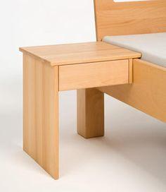 nachttisch zum anstecken aus naturholz metallfrei gebaut. Black Bedroom Furniture Sets. Home Design Ideas