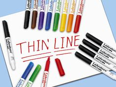 Write & Wipe Thin-Line Markers